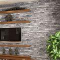 Rolo De Papel de parede PVC Vinil papel de parede de Pedra do Tijolo do vintage 3D Loja de Roupas Fundo Revestimentos de Parede Da Decoração Da Parede Para Sala de estar Decoração de Casa