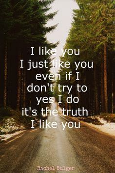 Even if I don't want to, too... I Like You - Ben Rector
