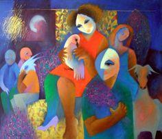 Roberto Chichorro - Pintura - Artodyssey - Roberto Chichorro nasceu em 1941 em Lourenço Marques. Dedicou-se desde cedo à pintura, onde expressa toda a magia das velhas histórias que foi ouvindo, ligadas a mundos mágicos de assombros, terrores e feitiçarias, mas também de bichos, música e encantos.