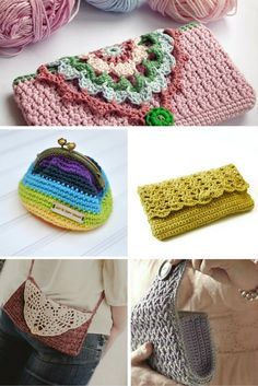 Gorgious crochet purses! 5 patterns. Looking for a fabulous crochet purse to make? check out these 5 crochet patterns   Happy in Red