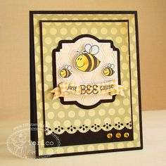 CAS TSG Bee Happy card - layout - layers - bjl