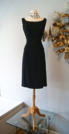 Vintage 60s Sexy Black Lace Cocktail Dress by xtabayvintage, $198.00