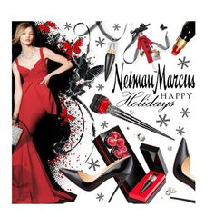 """""""The Holiday Wish List With Neiman Marcus: Contest Entry"""" by pisces7 ❤ liked on Polyvore featuring Christian Louboutin, La Petite Robe di Chiara Boni, Neiman Marcus and Soffieria de Carlini"""