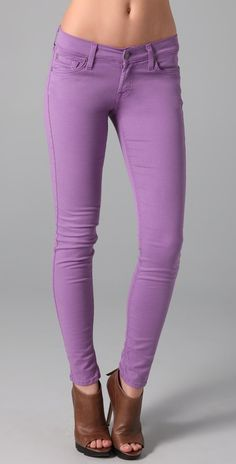 7 For All Mankind The Skinny in Light Purple
