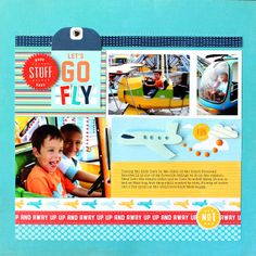 Pocket cards would work great on a layout like this! #papercraft #scrapbook #layout