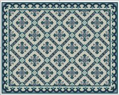 Gallery.ru / Фото #1 - Blue Tile Carpet and Pillow - azteca