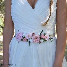 Ceinture mariage en fleurs stabilisées par Fleursdunouveaumonde
