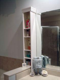 IKEA HACK - Benno dvd stand to bathroom countertop storage.
