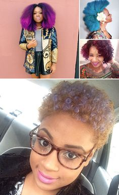 3 Bold Natural Hair Trends for Spring 2014-- I am not sure if I can pull this off but I love the trend!