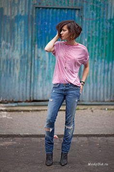 Zoé Alalouch - incarnation of French charm waysify Denim Fashion, Love Fashion, Fashion Beauty, Fashion Outfits, Style Casual, Casual Wear, Medium Hair Styles, Short Hair Styles, Look 2017
