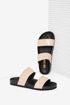 Sol Sana Cady Leather Slide Sandal