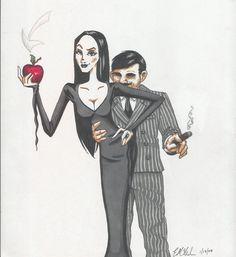 morticia addams drawing - Google Search