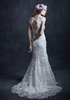vestido de noiva todo em renda bordada de claire pettibone gothic angel jophiel #casarcomgosto