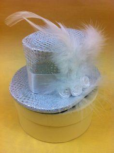 mini top hat white roses bridal wedding by madlittlehatter on Etsy, £9.99