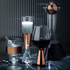 Tank Wine and Champagne glasses by Tom Dixon