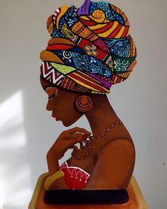 Details about African Girl - DIY Chart Counted Cross Stitch Patterns Needlework embroidery Art Black Love, Black Girl Art, Art Girl, Black Art Painting, Black Artwork, Woman Painting, Afrika Tattoos, Afrique Art, African Art Paintings
