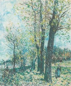 The Athenaeum - Landscape on the edge of Moret (Alfred Sisley - )