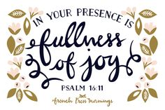French Press Mornings Print - Psalm 16:11 #encouragingwednesdays #fcwednesdaywisdom #quotes