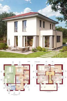 Klassische Stadtvilla mit Walmdach und Erker Anbau - Haus Grundriss Edition 3 V8 Bien Zenker Fertighaus - HausbauDirekt.de