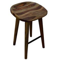 Tahoe 26-inch Solid Sheesham Wood Counter Stool