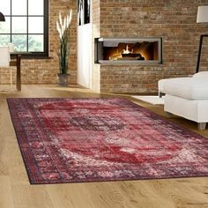 Gorge Gastronomy Multi Rug Heat-set polypropylene freese Non-shedding Easy to Clean Stain Resistant Moth Resistant * Runner: continuous roll, cut to custom lengths. Moroccan Design, Moroccan Rugs, Tapis Design, Kitchen Sale, Home Decor Bedding, Transitional Rugs, Red Pattern, Rug Material, Red Rugs