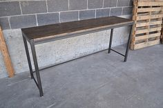 WillinghamConsole | 72 inch steel and stained pine console. … | Flickr