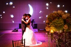 Moon and stars themed reception! Done and done!
