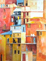 Michele CARER Urban Painting, Ouvrages D'art, Abstract, Artwork, How To Paint, Contemporary, Oil, Summary, Work Of Art