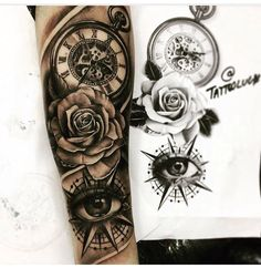 29 ideas eye tattoo rose ink tattoo old school tattoo arm tattoo tattoo tattoos tattoo antebrazo arm sleeve tattoo Forarm Tattoos, Forearm Sleeve Tattoos, Tattoo Sleeve Designs, Rose Tattoos, Leg Tattoos, Body Art Tattoos, Tattoos For Guys, Tatoo Rose, Tattoos Pics