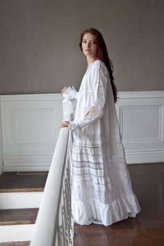 2012 Nightie Frilled Hem and Lace Still in Fashion White Nightgown, Vintage Nightgown, Vintage Dresses, Vintage Outfits, Clothing Store Displays, Night Dress For Women, Sleep Dress, Preppy Outfits, Groom Dress