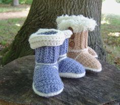 SnUGG boots by Caroline Brooke on the LoveCrochet blog