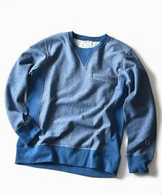 Champion x Ships Authentic Reserve Weave Sweater: Blue