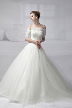 25 Incredible Wedding Dresses Off The Shoulder White Wedding Gowns, Wedding Flower Girl Dresses, Wedding Dress Styles, Perfect Wedding Dress, One Shoulder Wedding Dress, Fairytale Dress, Pageant Dresses, Lovely Dresses, Bridal Style