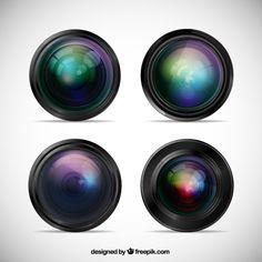 "top free vector art ""camera lenses"" by Freepik 801656 - the most unbelievable 3D vector art  ; ) - Freepik has serious talent : )"