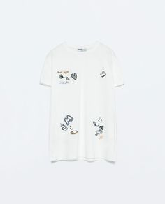 Image 7 of EMBROIDERED T-SHIRT from Zara