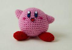 Amigurumi Kirby Amiibo 10 cm, muñeco Kirby, peluche Kirby, juguetes y juegos, Amiibo Nintendo, kirby chibi, cute amigurumi, regalo de Amigudolls en Etsy