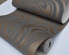 Textilná reliéfna tapeta na stenu v čokoládovo hnedej farbe Toilet Paper, Stencil, Stenciled Table, Stenciling, Toilet Paper Roll