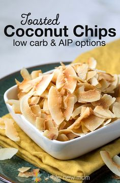 This Homemade Toasted Coconut Chips Recipe is one of the most helpful snack recipes I have ever come up with. Why? These little morsels of crunchiness and sweetness are just perfect – and they're a frugal version of the store bought ones. They're also special diet friendly – low carb, paleo, autoimmune protocol/AIP, GAPS and more!