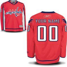 Reebok Washington Capitals Men's Premier Home Custom Jersey - Red - $159.99