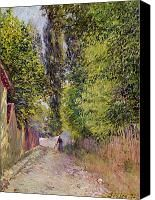 Landscape Near Louveciennes Painting by Alfred Sisley - Landscape Near Louveciennes Fine Art Prints and Posters for Sale