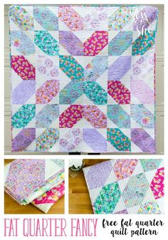 I know you have been searching for a fast and fun quilt pattern to use up your fat quarter stash. here it is! Sew up this beautiful throw quilt using 9 fat quarters plus a little more than a yard of background fabric. Quilt Baby, Baby Quilt Patterns, Modern Quilt Patterns, Sewing Patterns, Quilting Patterns, Quilting Ideas, Fat Quarter Quilt Patterns, Easy Quilt Patterns Free, Easy Quilts