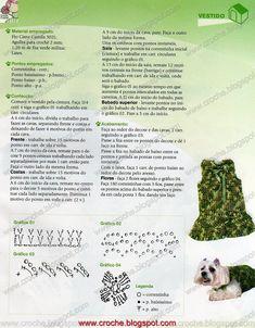 Receitas do Croche Croche!: roupa para cachorro - vestido