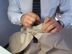 (1) Hand sewing sleeve by Adriano Bari / Manche de veste cousue main - YouTube