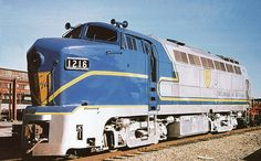 Delaware & Hudson Baldwin RF-16 Shark locomotive, at Schenectady, New York 11-23-1974.