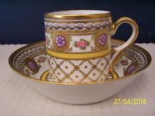 Royale ( France ) Limoges ROSACES VIOLINE  Cup and Saucer