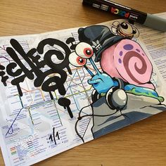 bit.ly/1MWHj5E by outofstepbooks: We totally love the awesome style of @cheograff who creates all sorts of rad drawings murals sketches toys digital work and more!Check out CHEOs page & website for lots of inspiration! Viva la Creativity!