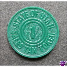 State of Utah Sales Tax Token Exonumia [971] Listing in the Other,Coins,Coins & Banknotes Category on eBid United States