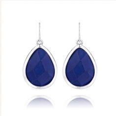 Bridesmaids gifts for your big day and every day. $34/pair hypoallergenic, nickel free and a lifetime guarantee. https://www.chloeandisabel.com/boutique/candibykim/products/E224S/minaret-blue-jade-teardrop-earrings #chloeandisabelbykim