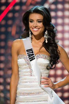 I didn't know Miss. Utah had such pretty hair.
