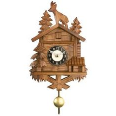 Quartz Novelty Clock -  Chalet with Billy Goat on Roof